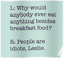 Breakfast Foods Philosophy 2 Poster