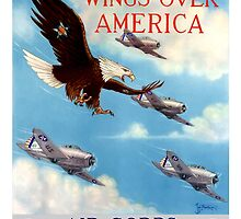 Wings Over America -- Air Corps WWII by warishellstore