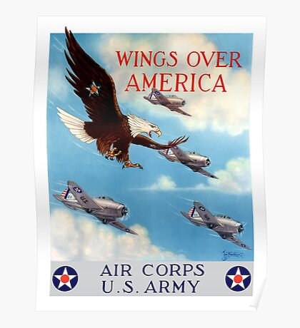 Wings Over America -- Air Corps WWII Poster