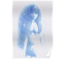 Vampirella - Blue pencil Poster