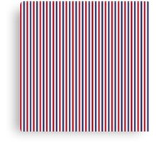 USA Flag Red and Flag Blue Narrow Thin Stripes  Canvas Print