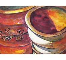 Pottery in Shadows Photographic Print