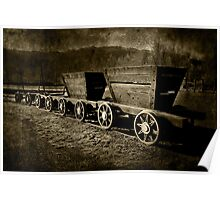 Ore Wagons Poster