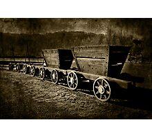 Ore Wagons Photographic Print