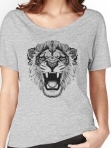 roaring lion t-shirt on lite Women's Relaxed Fit T-Shirt