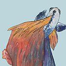 Siamese fighting fish by RebeccaMcGoran