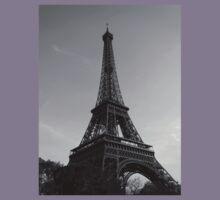 Eiffel Tower Black & White (Paris) Kids Tee