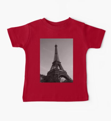 Eiffel Tower Black & White (Paris) Baby Tee