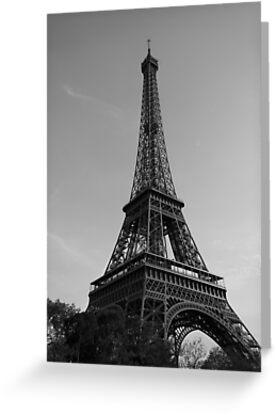 Eiffel Tower Black & White (Paris) by Mathieu Longvert