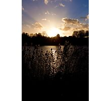 Sunset and lake Photographic Print