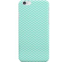 Tiffany Aqua Blue Chevron Zig Zag iPhone Case/Skin