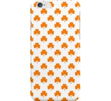 Orange Heart-Shaped Clover on White St. Patrick's Day iPhone Case/Skin