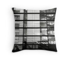 Reflections - Bulding within a building Throw Pillow