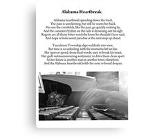 Alabama Heartbreak Canvas Print