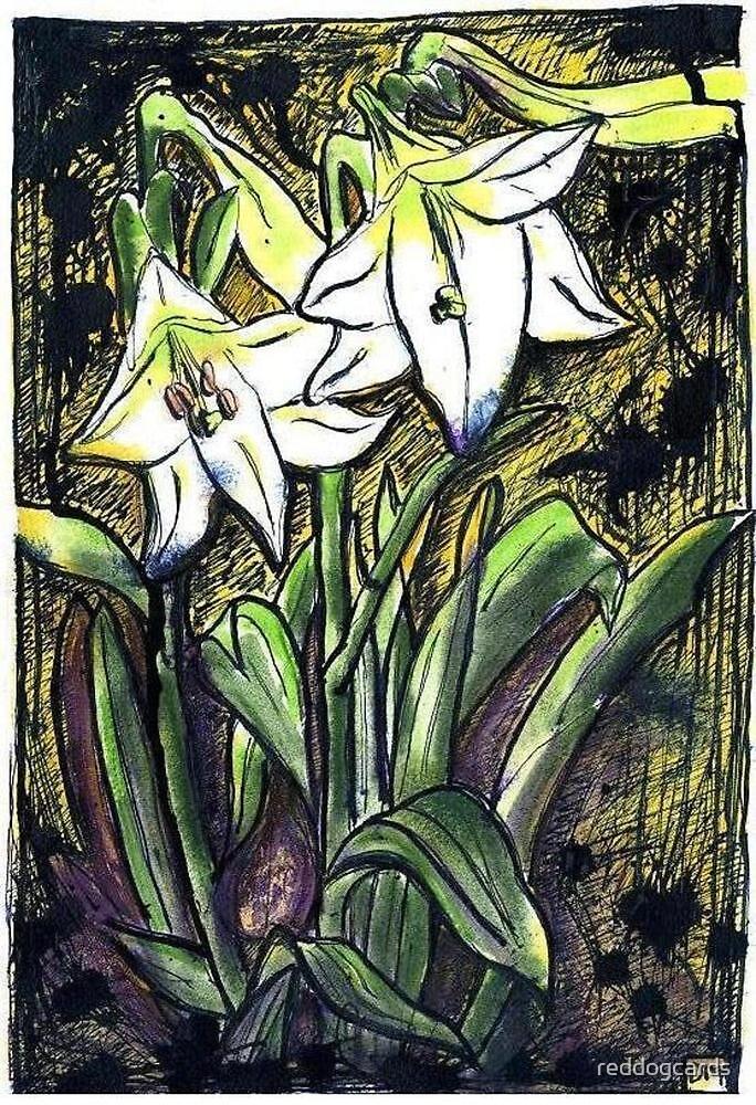 Inky Lily by reddogcards
