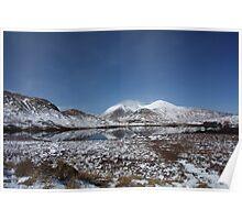 Scottish Highlands in Winter Poster