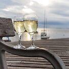 Wine and Sunset by Mathieu Longvert