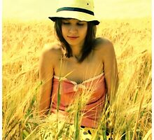 A girl in a field of wheat by fenist