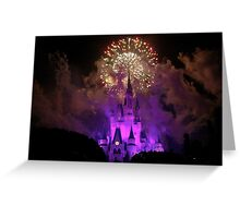 Disney World at Christmas! Greeting Card