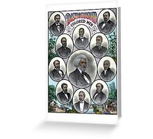 Distinguished Colored Men Greeting Card