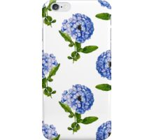 Blue Cape Plumbago Flower iPhone Case/Skin