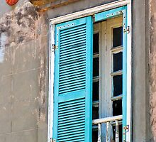 Blue Shutters by Leon Heyns