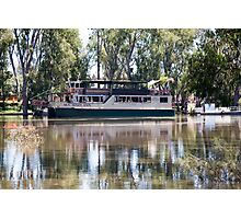 MV Mary Anne on the Murray Photographic Print