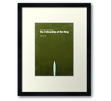 """Fellowship of the Ring""- minimalist movie poster Framed Print"