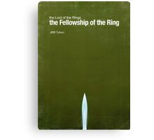 """Fellowship of the Ring""- minimalist movie poster Canvas Print"