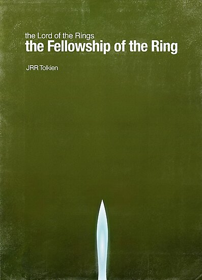 """""""Fellowship of the Ring""""- minimalist movie poster by J PH"""