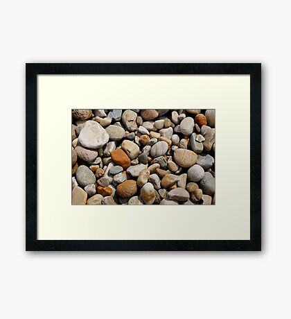 Coloured stones  Framed Print