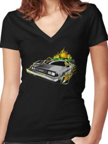 Blanka to the Future Women's Fitted V-Neck T-Shirt