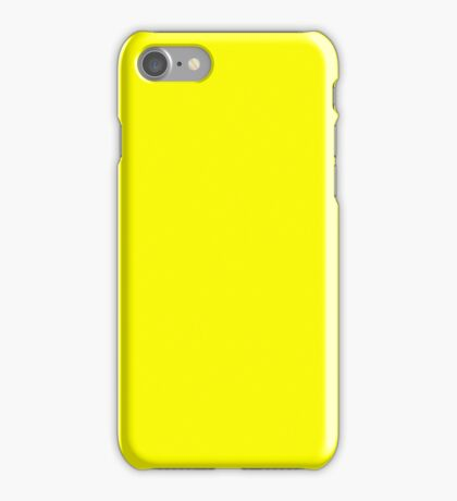 Bright Fluorescent Yellow Neon iPhone Case/Skin
