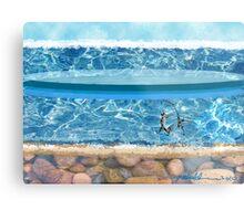 """Sunny Beach""  Metal Print"