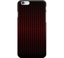 Optical Illusion Grid in Black and Red iPhone Case/Skin