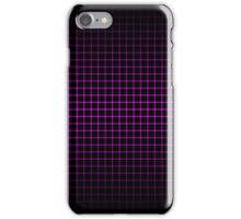 Optical Illusion Grid in Black and Neon Pink iPhone Case/Skin