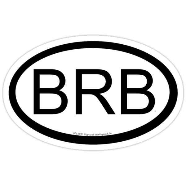 BRB location sticker by SOIL