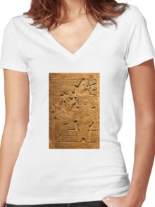TEOTIHUACAN, Mexico Women's Fitted V-Neck T-Shirt
