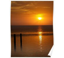 Serenity..South Padre Island - sunset Poster