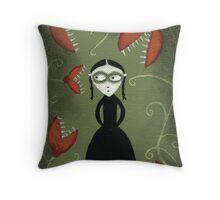 Viola's Garden Throw Pillow