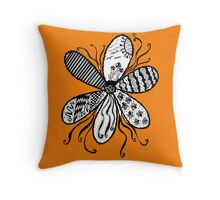 Flower Garden (The Shades of Orange Collection) Throw Pillow
