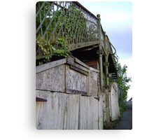 bridge over a.. shed? Canvas Print