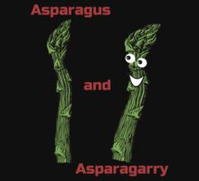 Asparagarry - Funny Asparagus T-Shirt Vegetable Card by deanworld