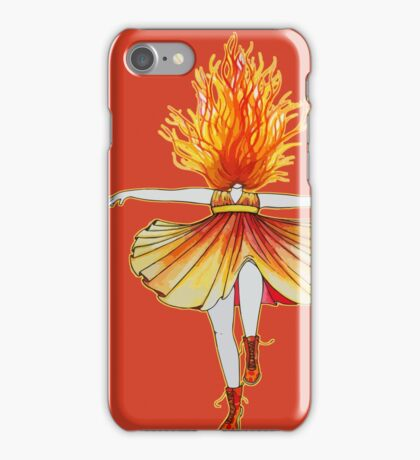 Girl on fire by Studinano iPhone Case/Skin