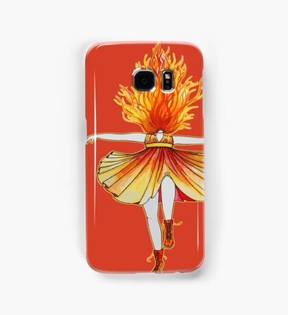 Girl on fire by Studinano Samsung Galaxy Case/Skin