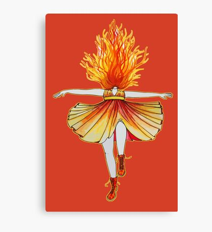 Girl on fire by Studinano Canvas Print