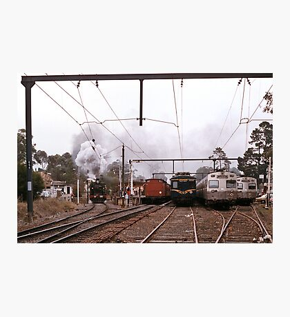 1970s K190 excursion train at Eltham Photographic Print