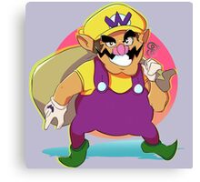 Wario Design Canvas Print