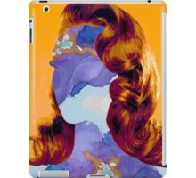 Watercolor Girl - Blue Romance Fusion by CHAUSSE Genevieve iPad Case/Skin