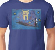 Backwards-Head Boy and the Angry Cat Unisex T-Shirt